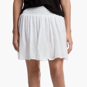 james perse cotton gauze smock skirt